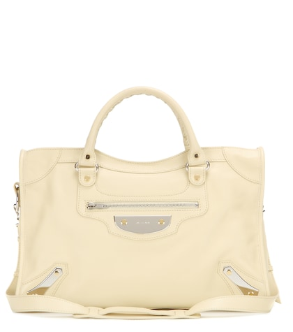 balenciaga female classic city metal plate leather tote