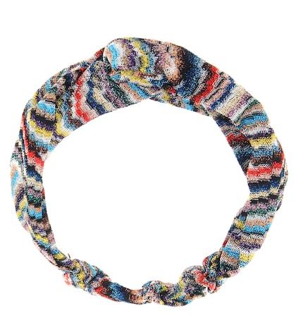 Metallic knitted headband