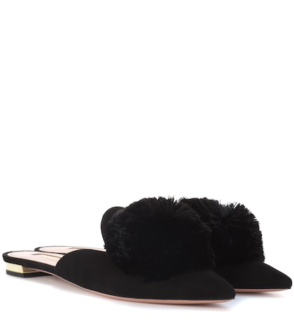 Powder Puff suede slippers