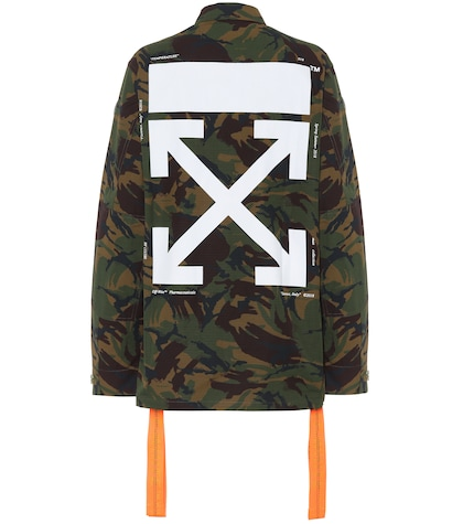 Printed cotton camouflage jacket