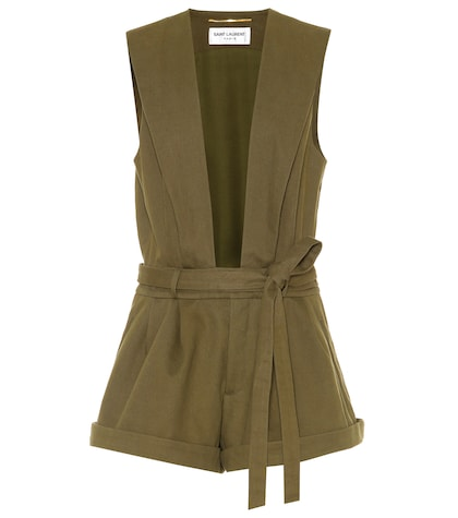 Cotton-blend playsuit