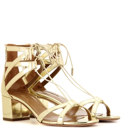 Beverly Hills 50 Metallic Leather Sandals