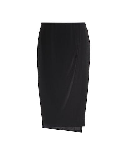 Wiss stretch-crêpe skirt