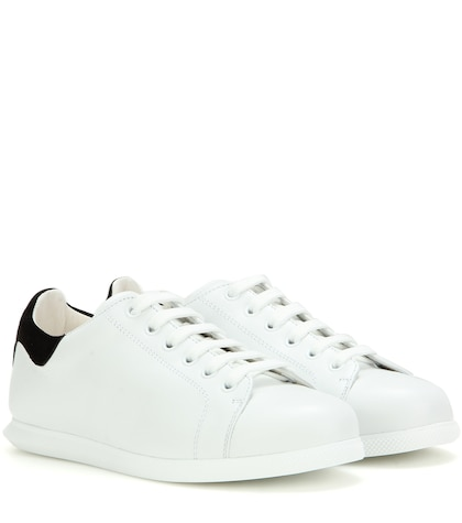 alexander mcqueen female leather and suede sneakers