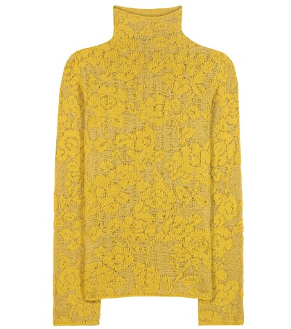 Wool and mohair-blend turtleneck sweater