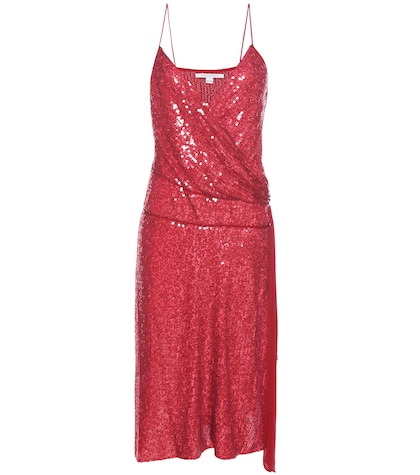 diane von furstenberg female brenndah sequinned silk dress