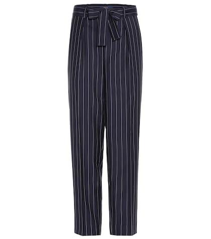 Pinstripe Wool High-rise Trousers