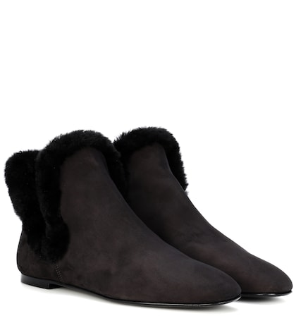 the row female eros suede ankle boots