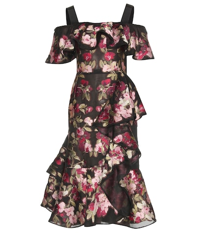 alexander mcqueen female  chiffon jacquard dress