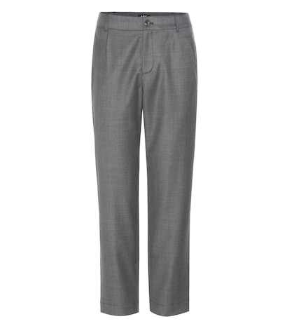 apc female isabelle wool trousers