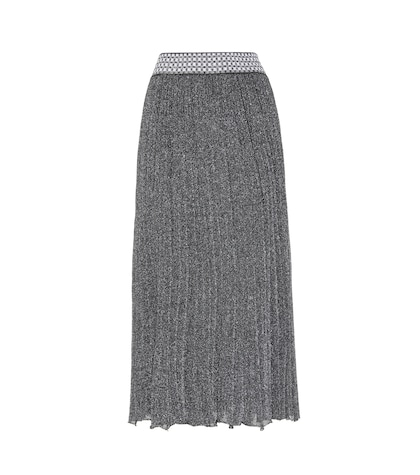 Knitted Metallic Wool-blend Skirt