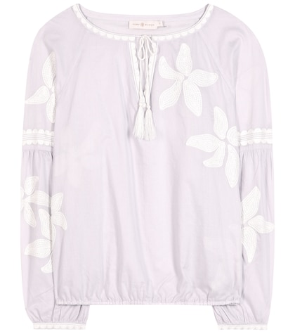 tory burch female 248826 honour embroidered cotton blouse