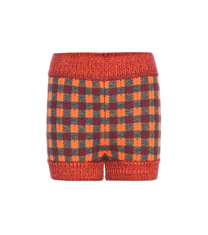 Knitted Wool, Alpaca And Silk Shorts