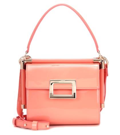 Miss Viv' Carré Patent Leather Shoulder Bag