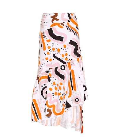 Tribal Party printed cotton skirt