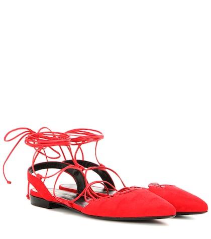 Paris Suede Lace-up Sandals
