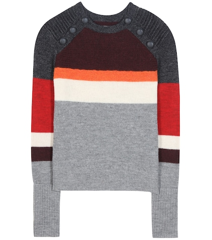 Doyle Striped Wool Sweater