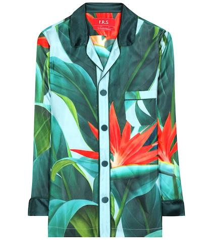 Nemesi Printed Silk Shirt