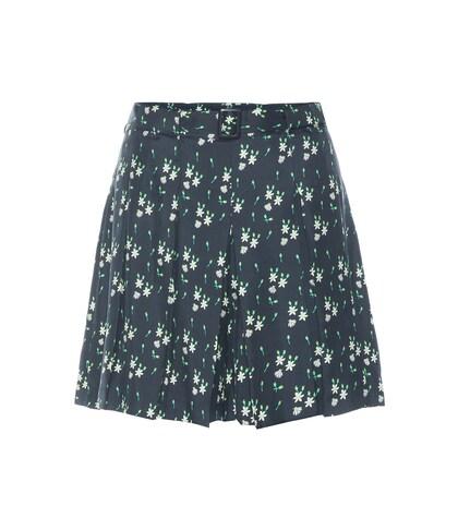 apc female printed silk shorts