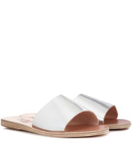 Taygete Metallic Leather Sandals