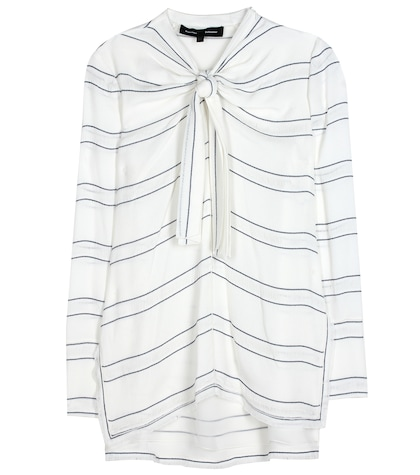 proenza schouler female knotted crepe top