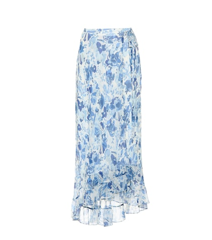 Polo Ralph Lauren Floral-printed Silk Skirt