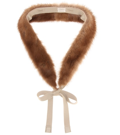 Lipsia mink fur collar