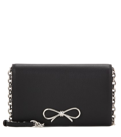 Bow Chain Wallet leather shoulder bag