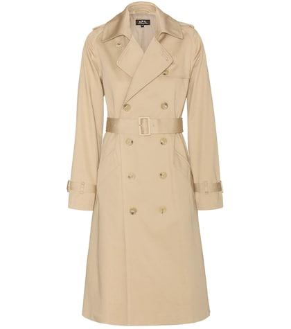 apc female greta trench coat