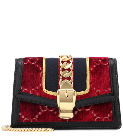 Sylvie GG velvet mini bag