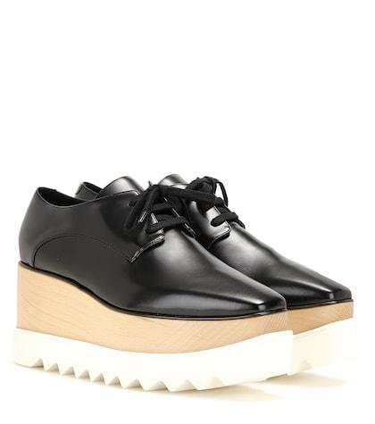 Elyse platform derby shoes