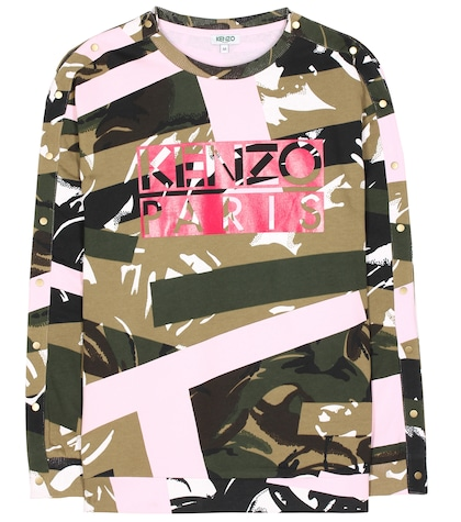 Cotton-jersey printed sweater