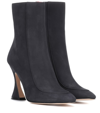 Emma 100mm suede ankle boots