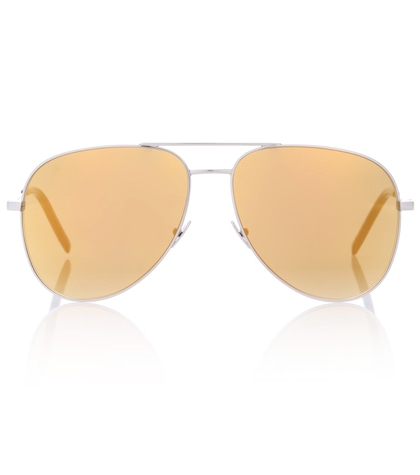 saint laurent female classic 11 mirrored aviator sunglasses