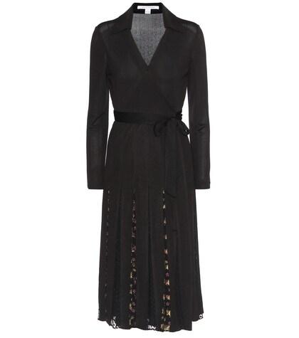 Stevie Crêpe-jersey And Metallic Fil Coupé Wrap Dress