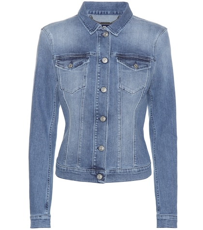 7 for all mankind female classic trucker denim jacket