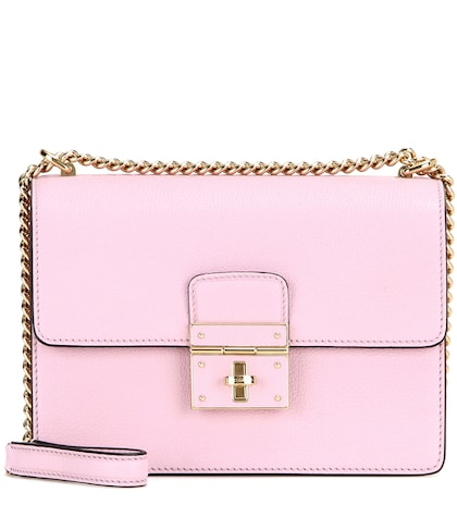 dolce gabbana female rosalia leather shoulder bag