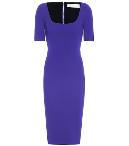 victoria beckham female crepe dress