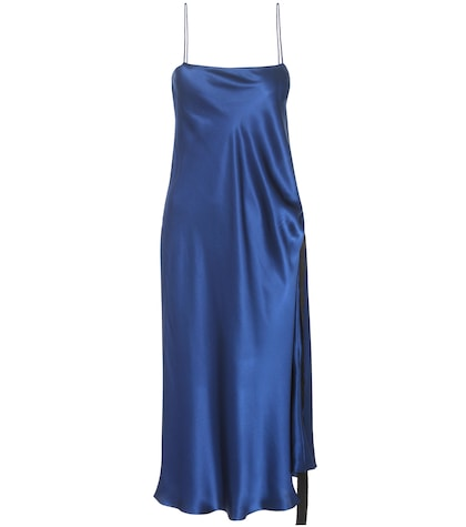Tony Silk Satin Slip Dress