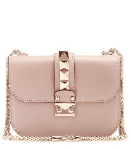 valentino female  lock small leather shoulder bag