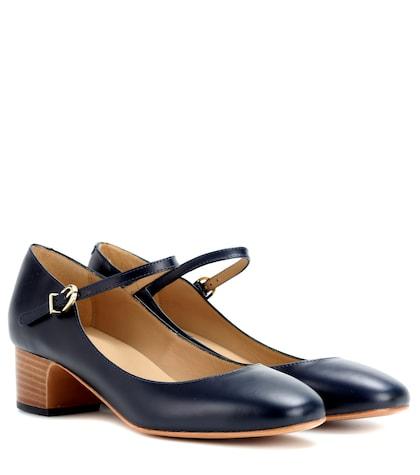 apc female victoria leather mary jane pumps