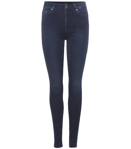 Super high-waist skinny jeans
