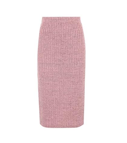 Jubilee metallic wool-blend skirt