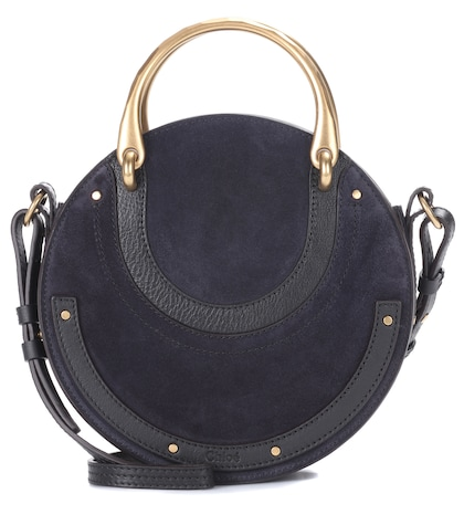 Pixie Small leather and suede shoulder bag