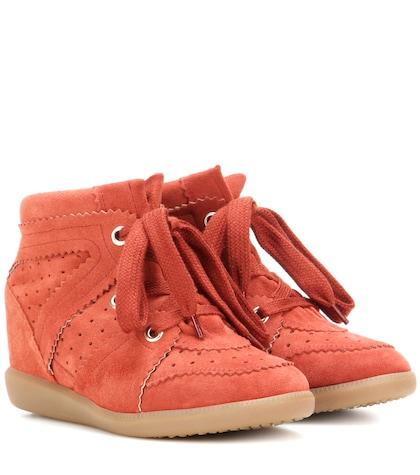 étoile Bobby Suede Wedge Sneakers