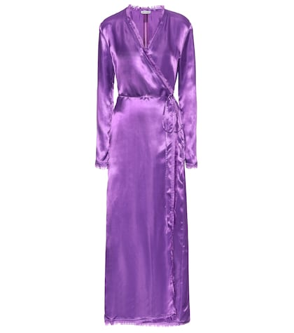 Raquel satin wrap dress
