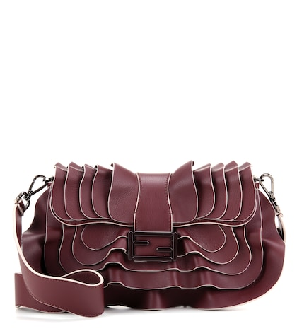 fendi female baguette wave leather shoulder bag