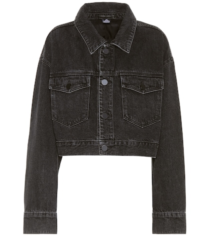 alexander wang female cropped denim jacket