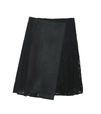 Pleated Macramé Lace Skirt