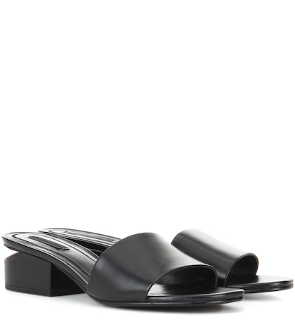 alexander wang female lou leather sandals